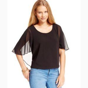Jessica Simpson Flutter Sleeve Blouse